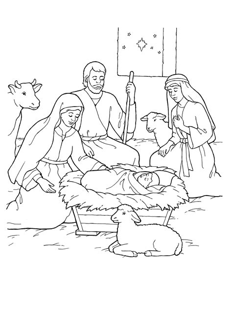 jesus is born nativity coloring page nativity coloring pages born of jesus christ coloringstar