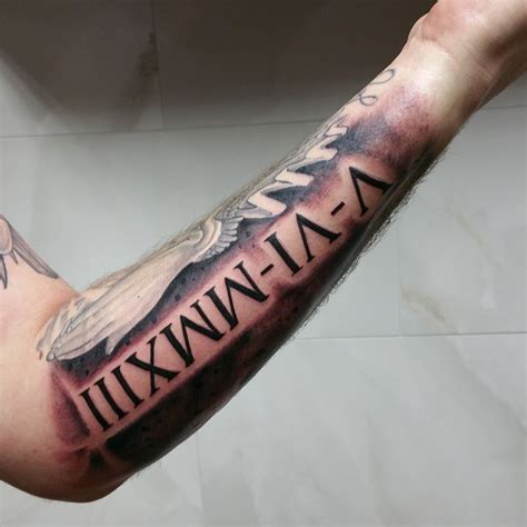 roman numeral tattoo design numeral forearm designs ideas and meaning