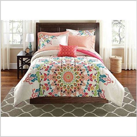 Twin Xl Bedding 6pc Comforter Set College Girl White Color