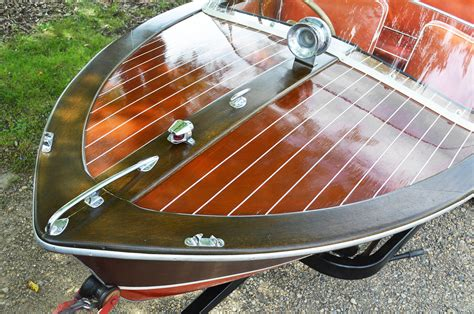 carver wooden boats carver commander wood 15 with 45hp mercury mark 58a