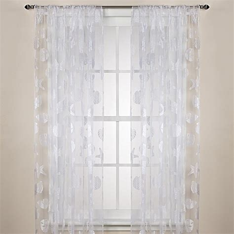 sheer curtain rods nantucket sheer rod pocket window curtain panels bed