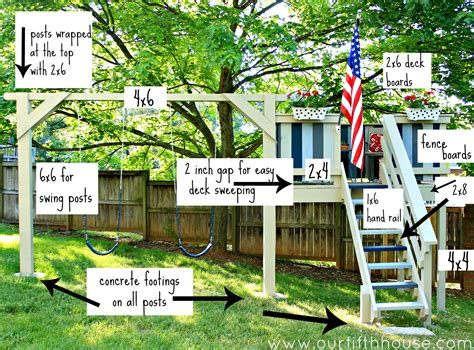 homemade swing set plans our fifth house diy swing set playhouse