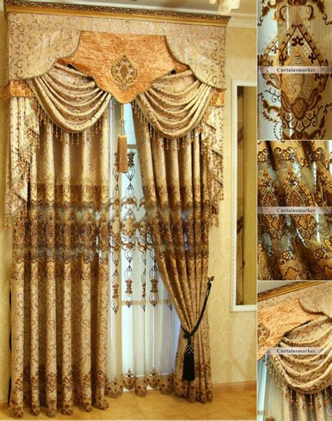 Fancy Curtain Valances Contemporary Style Curtains Of Fancy Chenille Jacquard Fabric
