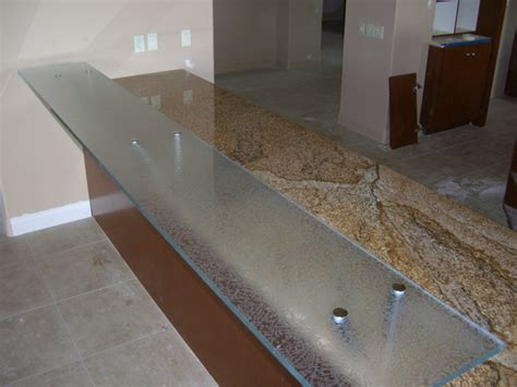 glass bar top glass bar top counter floating kitchen counter