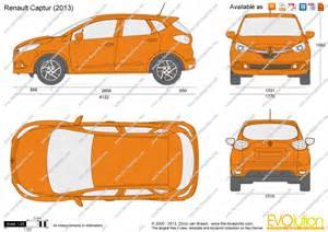 Renault Captur Dimensions The Blueprints Vector Drawing Renault Captur