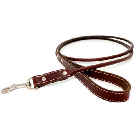 harness leash classic rolled leather leash eight colors