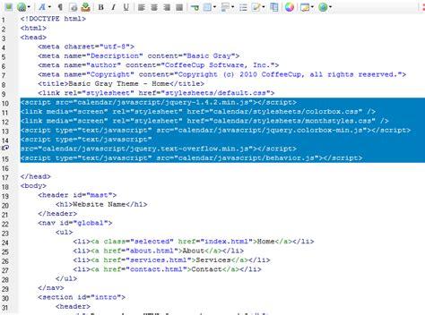 Html Calendar Code How To Add A Web Calendar To The Html Editor Version 5 0