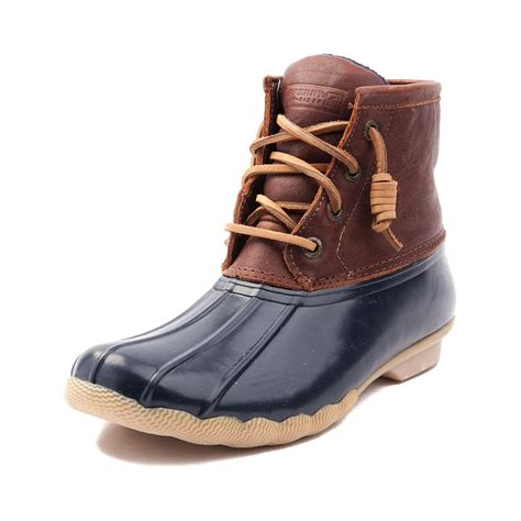 womens duck shoes on sale womens sperry top sider saltwater boot brown 583631