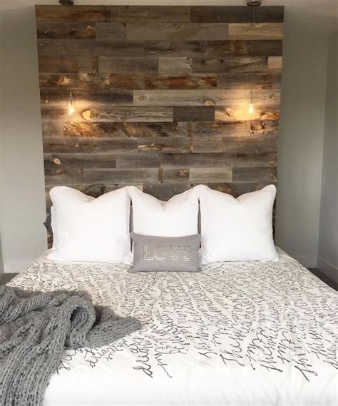 Wood Plank Headboard Best 25 Unique Headboards Ideas On Pinterest Window Headboard Headboards And Decorating With