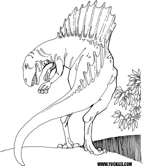 free t rex vs spinosaurus coloring pages