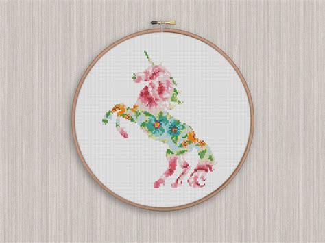 unicorn needlepoint pattern bogo free unicorn cross stitch pattern unicorn flowers