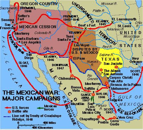 map us before mexican war westward expansion mexican war map assignment