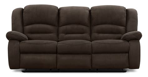 microsuede loveseat toreno cocoa padded microsuede reclining sofa the brick