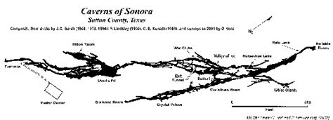sonora texas map caverns of sonora texas speleological survey tss cave records publications national