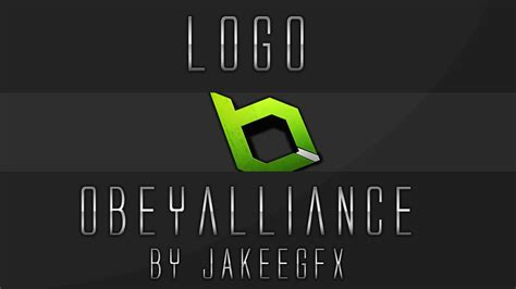 obey alliance logo template youtube