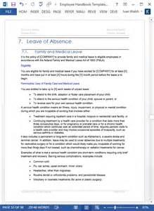 handbook template word employee handbook template 100 pg ms word