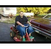 Fat Boy Riding A Lawn Mower  YouTube