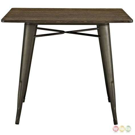 alacrity industrial 36 quot square wood dining table with