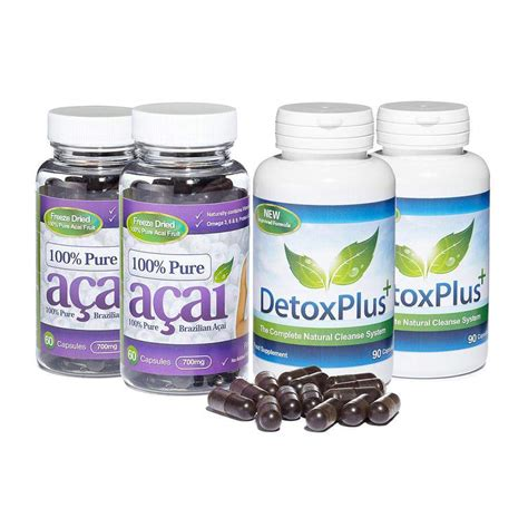 Acai Cleanse Detox Liquid by 100 Acai Berry Colon Cleanse Combo Package With