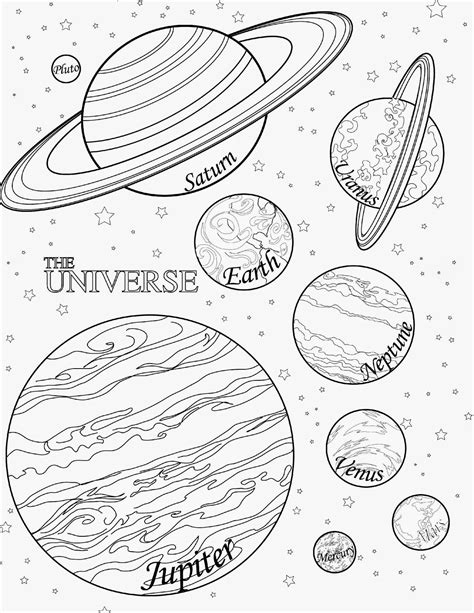 nine planets coloring pages