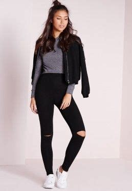 Jegging Cotton 4 Ripped Black best 25 ripped ideas on and