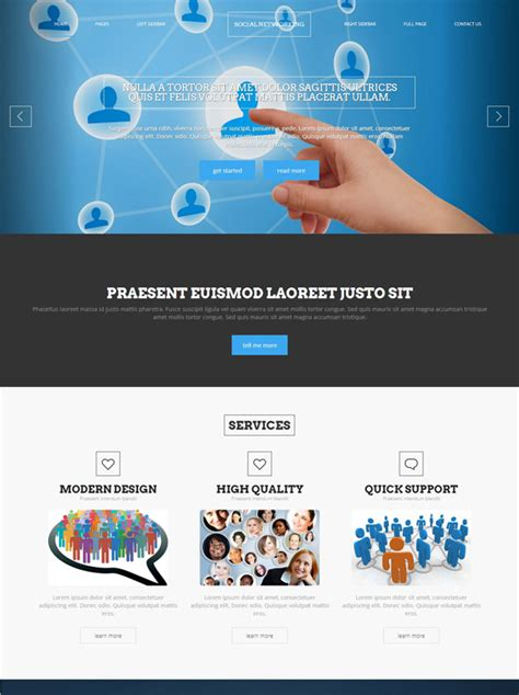 Social Networking Web Template Social Networking Website Templates Dreamtemplate Social Media Website Template