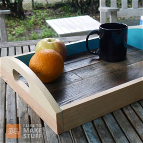 serving tray  pallet wood