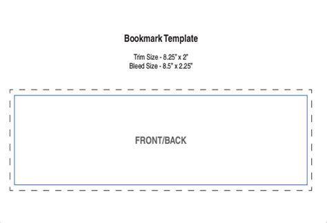 bookmark sizes template bookmark templates 16 free pdf psd documents