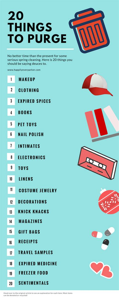 20 things to purge happily