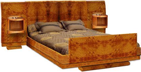 LIT 6A N   Lit tête droite avec avec tête de lit, encadrement, pied de lit et chevets incorporés