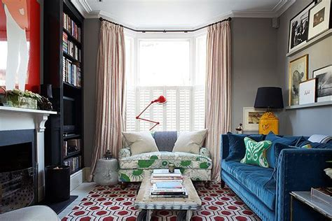 modern interior design   classic london terrace house display pictures colour pop