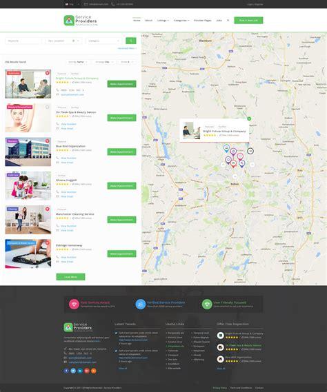 Service Providers Directory Template By Designhoard Themeforest Service Provider Website Templates