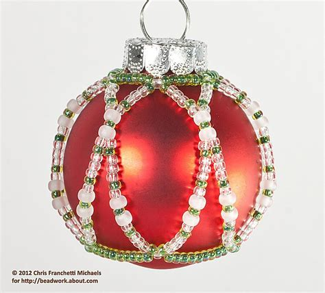 pattern for christmas ornaments easy beaded ornament cover pattern