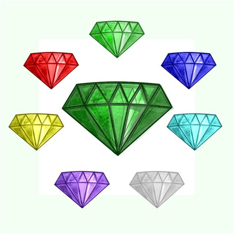 Kaos 8bit 18 chaos emeralds by tokeitime on deviantart