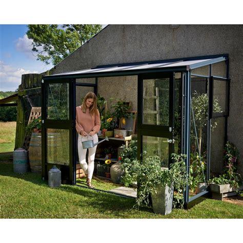 serre verande serre veranda aluminium anthracite et verre tremp 233 4 4m 178