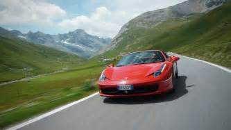 458 spider on the stelvio pass car and driver