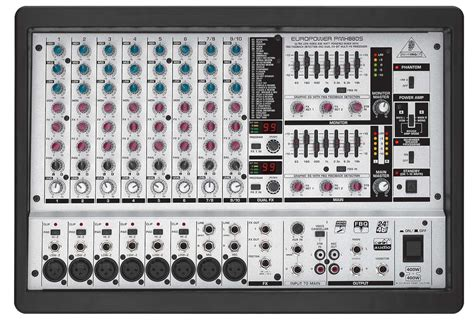 Mixer Behringer 10 Channel behringer pmh880s 10 channel powered mixer with fx 800 watts