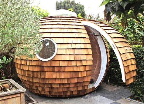 Backyard Pod by The Shingled Spherical Podzook Is An Eco Friendly Pod That