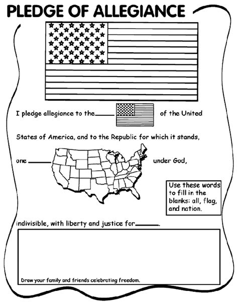 Pledge Of Allegiance Coloring Page Pledge Of Allegiance Crayola Ca