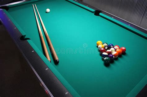 how to set up a pool table a pool table set up for a stock photo image 33215758
