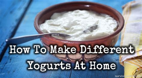 how to make different yogurts at home survivopedia