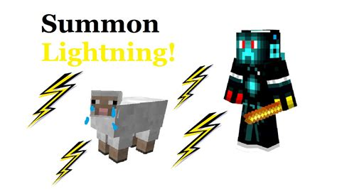 how to get the lighting command how to summon lightning with a stick in minecraft 1 8