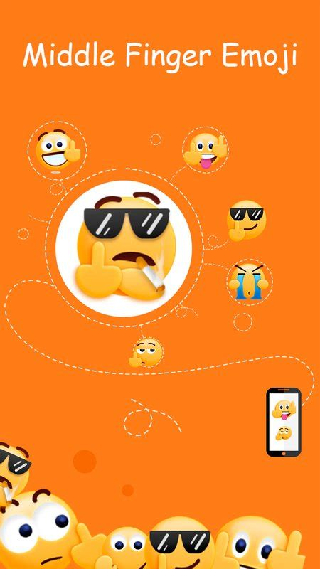 middle finger emoji android middle finger emoji sticker apk free social app for android apkpure