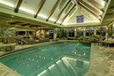 awesome indoor pool dream home pinterest