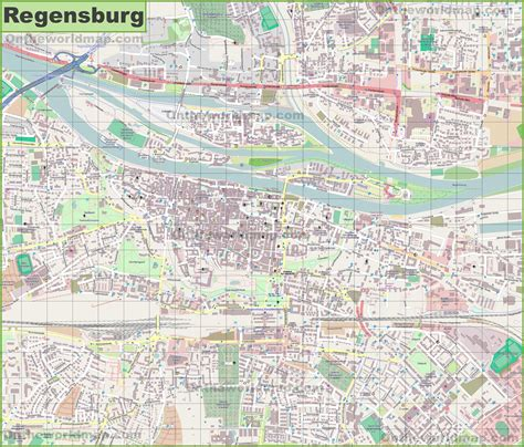 regensburg germany map large detailed map of regensburg