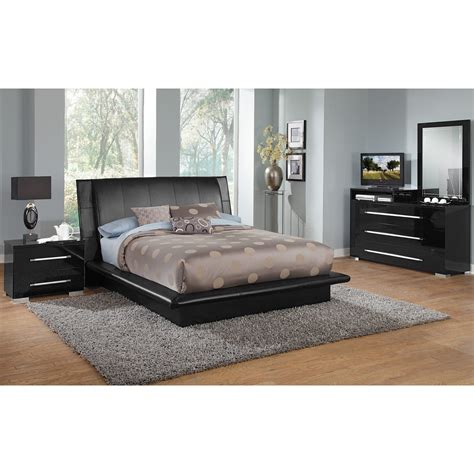 black queen bedroom set dimora black queen bed value city furniture