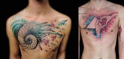 tatuagens masculinas em estilo aquarela