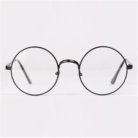 Kacamata Vintage Unisex fashion retro circle metal frame eyeglasses clear lens eye glasses unisex in eyewear