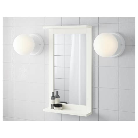 White Bathroom Mirror With Shelf Silver 197 N Mirror With Shelf White 36x64 Cm Ikea