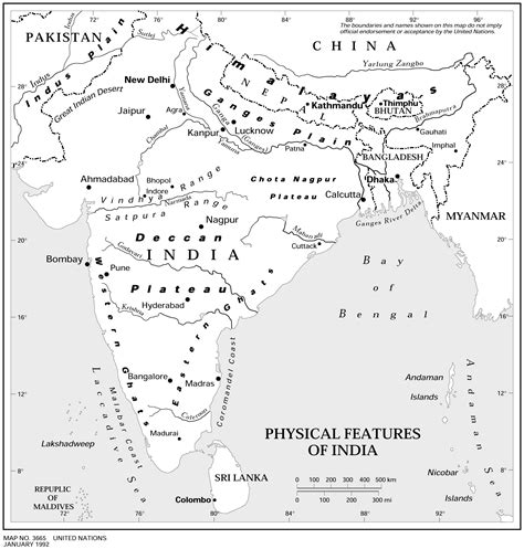 printable version of india map physical features of india map maps of india